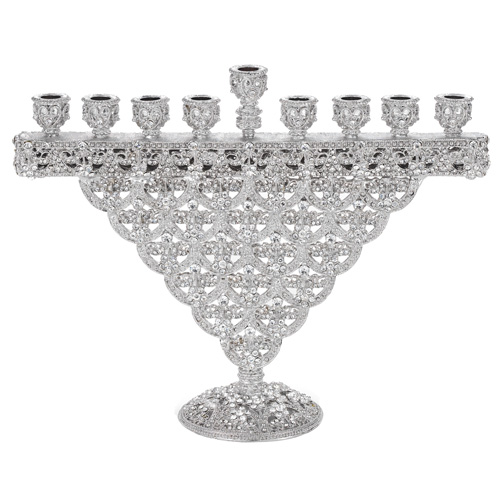 CH1715 SILVER CRYSTAL SINCLAIR MENORAH