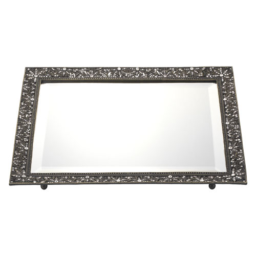 VT4739 BRONZE WINDSOR BEVELED MIRROR TRAY