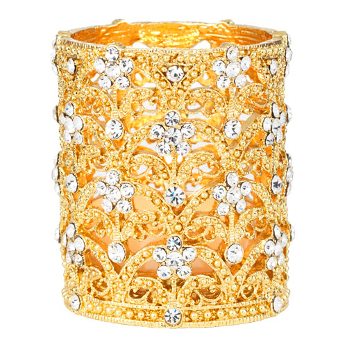 TL0000 GOLD CRYSTAL SINCLAIR TEALIGHT HOLDER